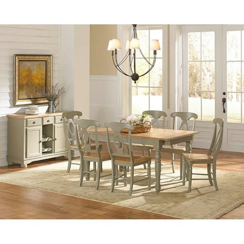 Aamerica british isles casual dining room group stuckey for Casual dining furniture