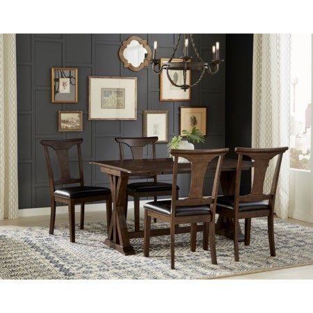 5 Piece Flip Top Dining Set