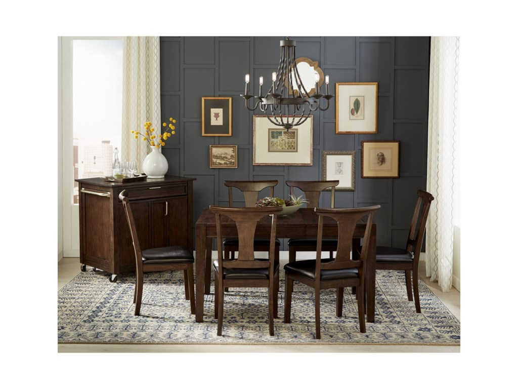 AAmerica Brooklyn Heights7 Piece Sqaure Leg Dining Set