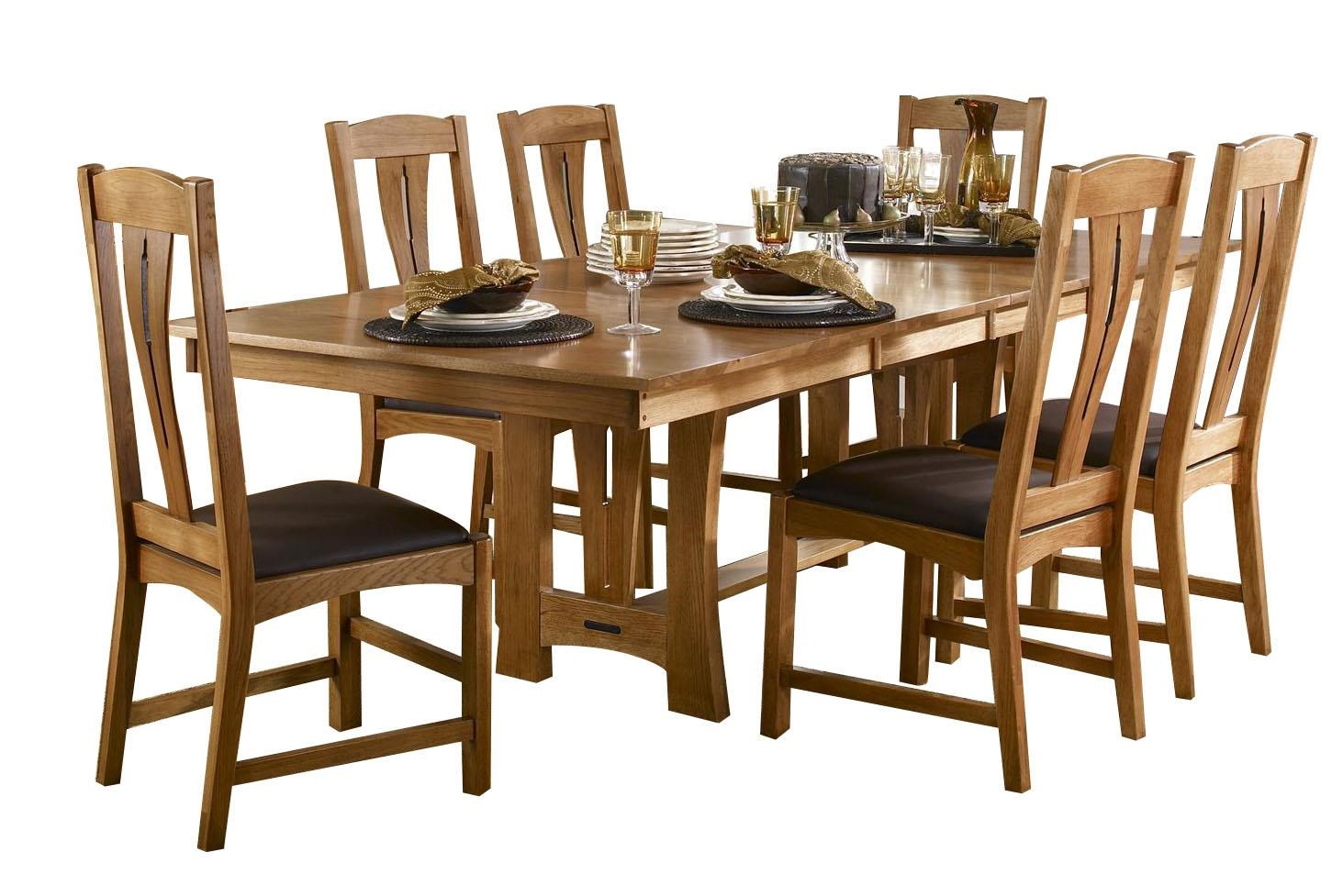 AAmerica Richmond7-Piece Trestle Table Dining Set ...  sc 1 st  Ruby-Gordon Furniture u0026 Mattresses & Richmond 7-Piece Trestle Table Dining Set w/ 6 Side Chairs | Ruby ...