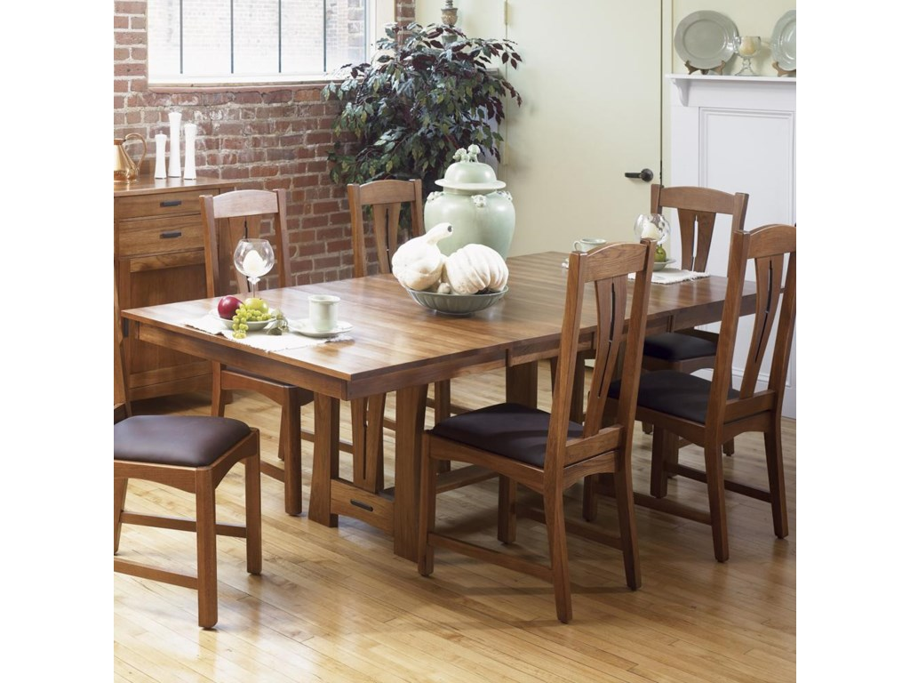 Richmond X Trestle Table W Leaves Ruby Gordon Home - 30 x 60 dining room table