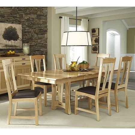 7-Piece Trestle Table Dining Set