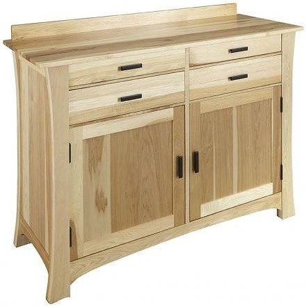 AAmerica Cattail Bungalow Traditional 4 Drawer 2 Door Sideboard