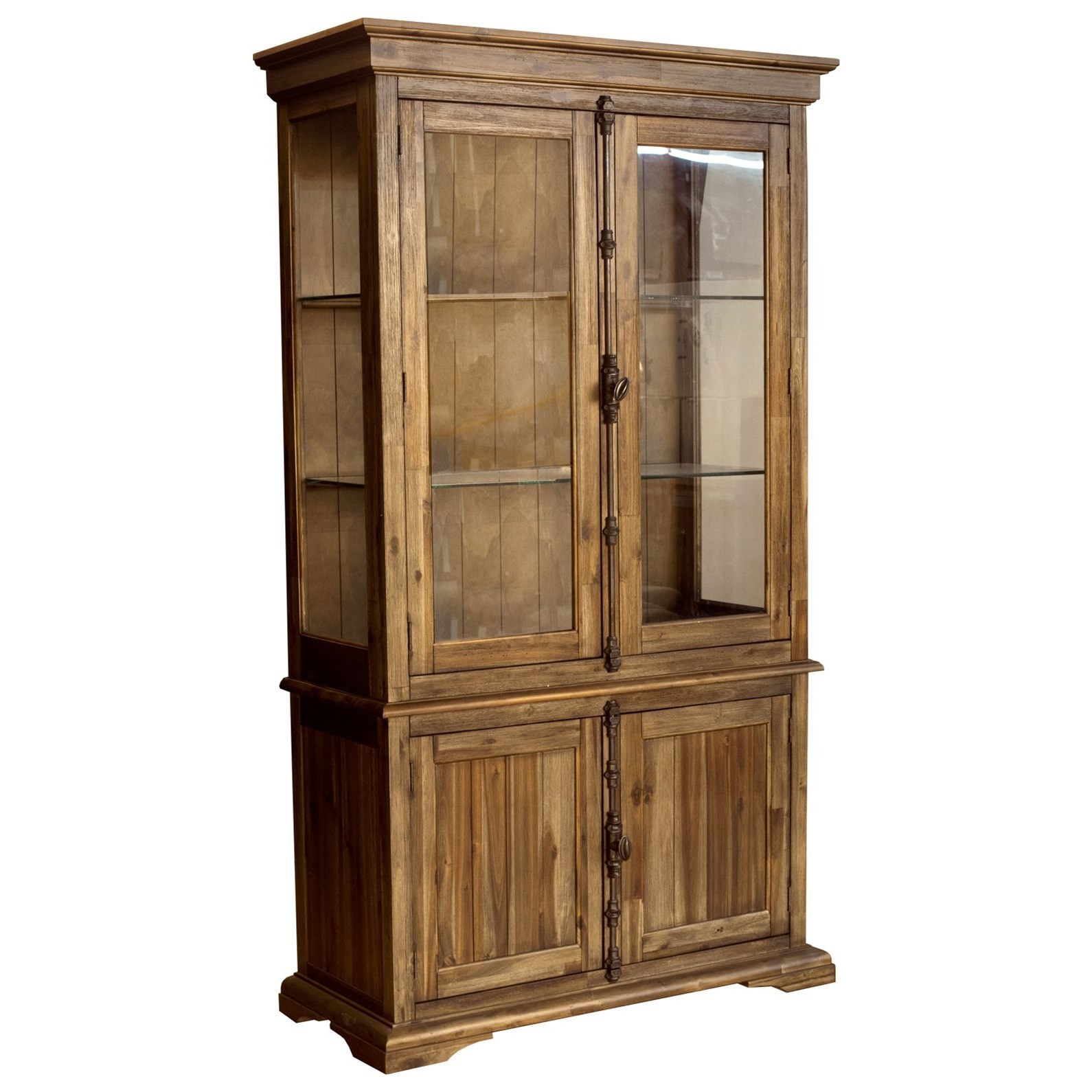 AAmerica Dawson China Cabinet with Glass Paneling - Value City ...