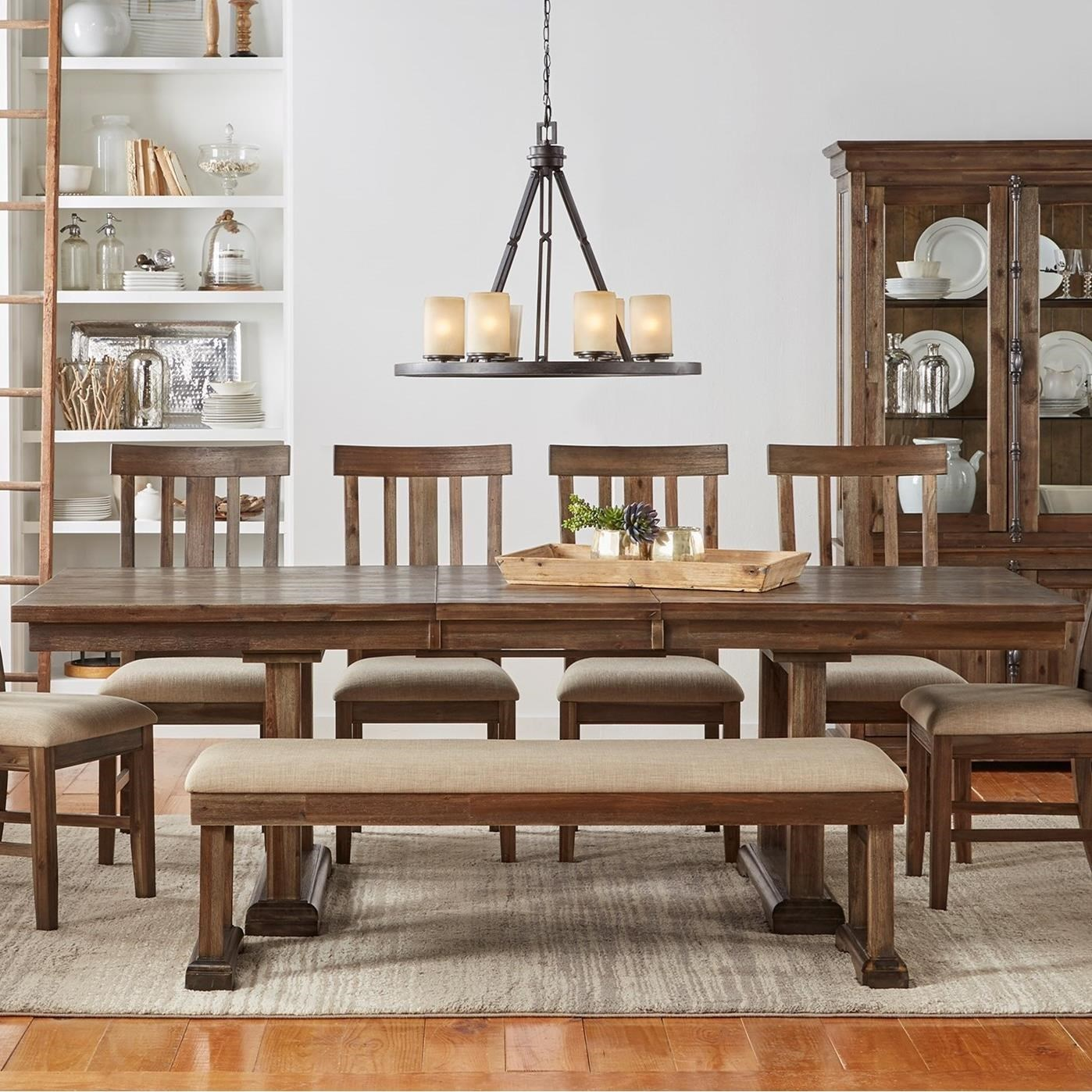AAmerica Dawson Trestle Table With Removable Leaf