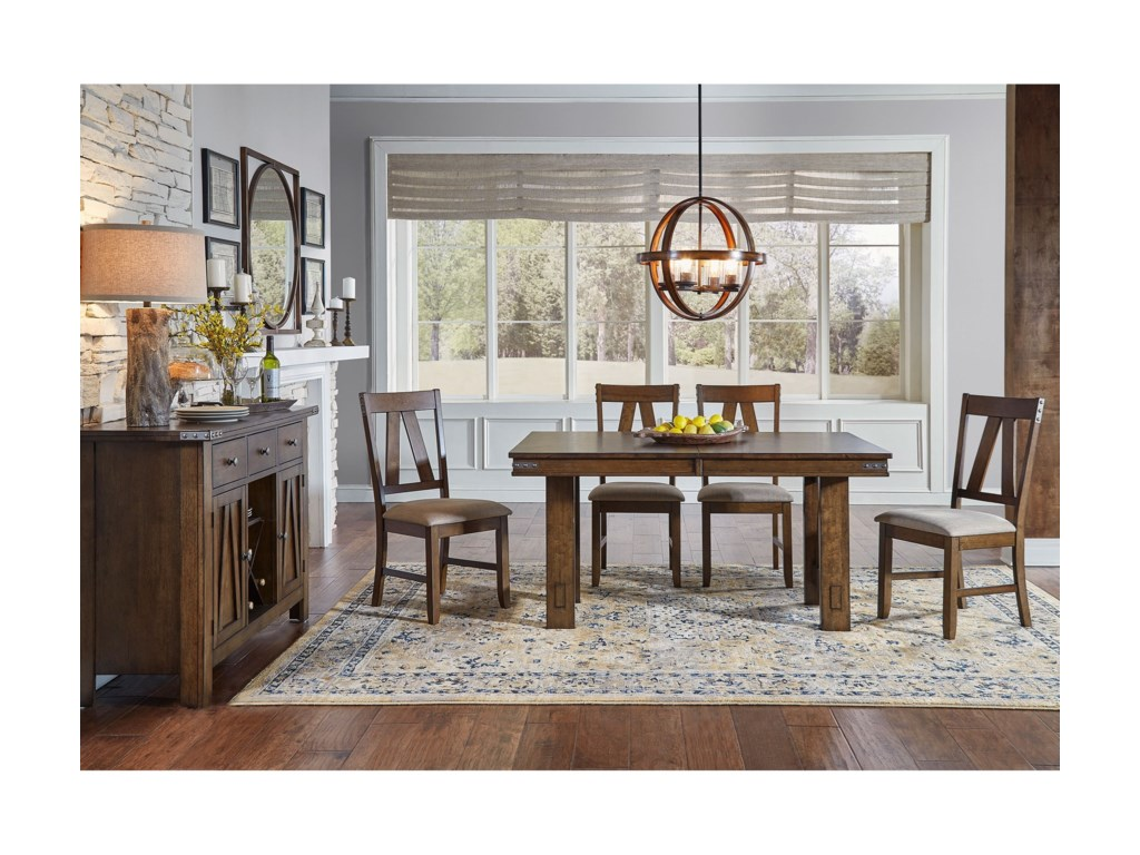 AAmerica Eastwood DiningButterfly Leaf Trestle Table