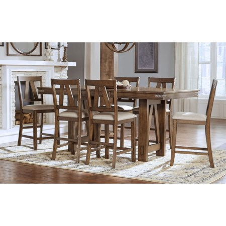 Counter Height Table And 6 Side Chairs