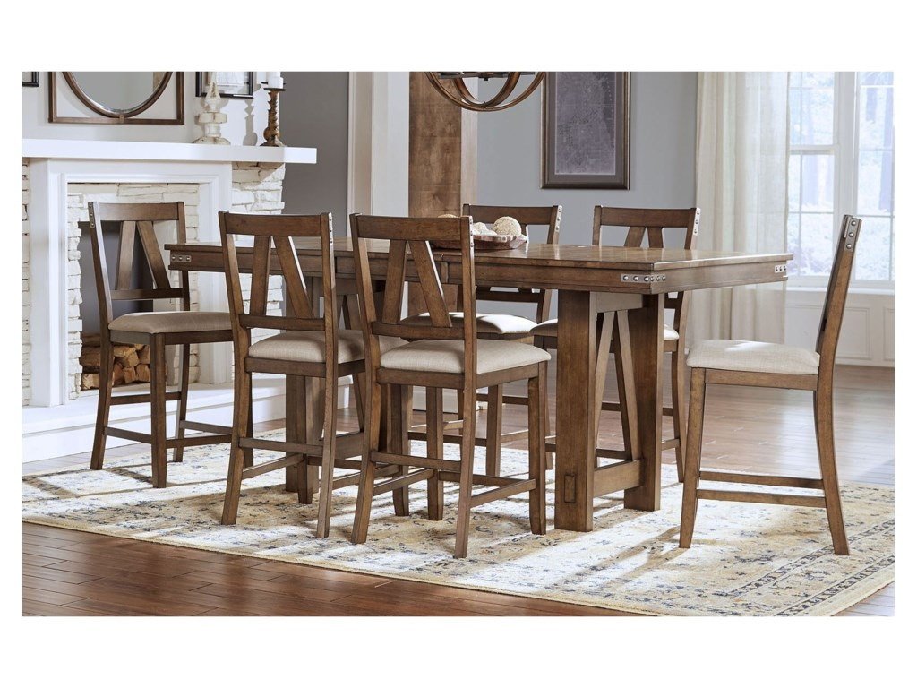 Aamerica eastwood dining solid wood counter height table with aamerica eastwood diningcounter height table and 6 side chairs watchthetrailerfo