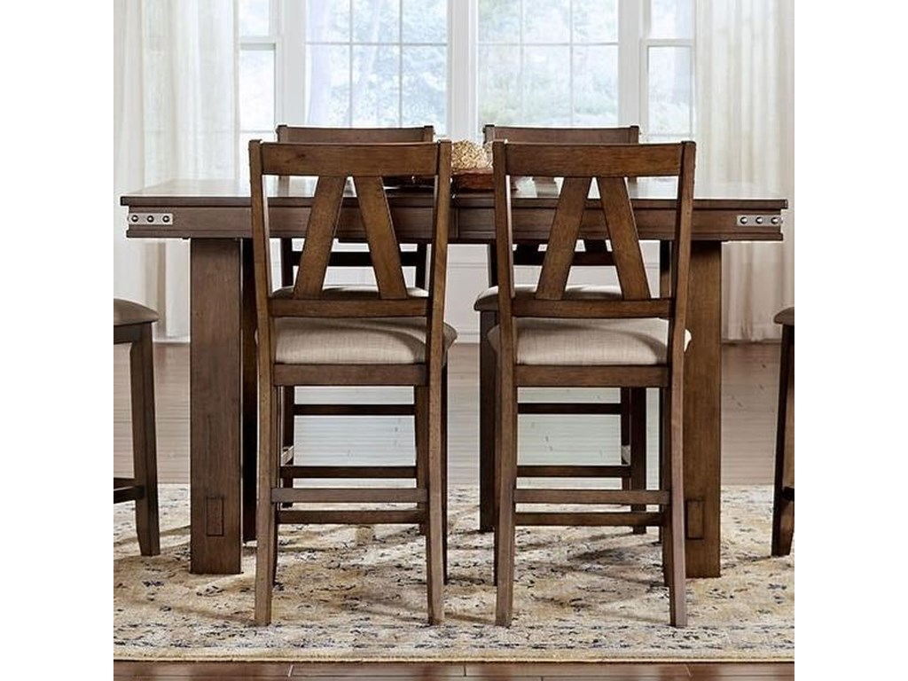 AAmerica Eastwood DiningCounter Height Table With Butterfly Leaf