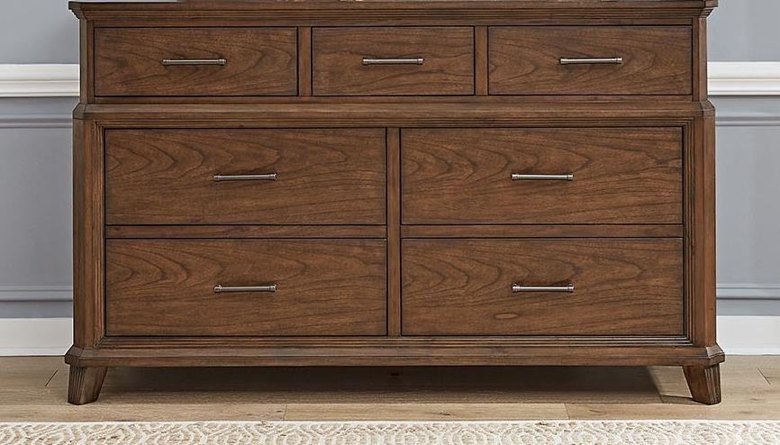 Transitional Rustic 7-Drawer Dresser