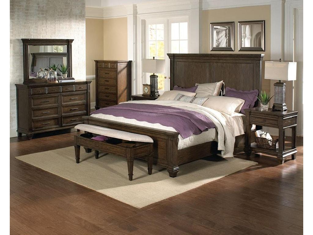 AAmerica GallatinQueen Panel Bed