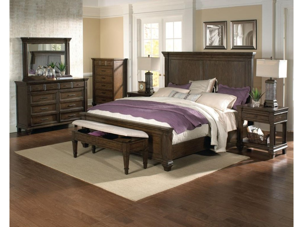 AAmerica GallatinKing Panel Bed