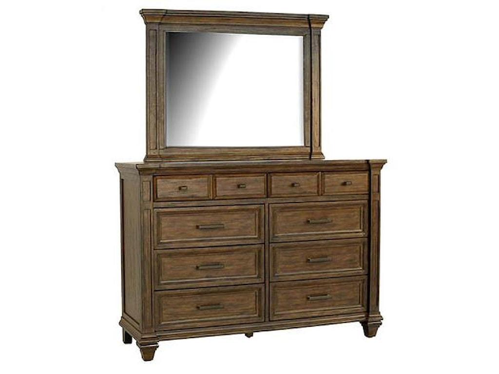 AAmerica Gallatin8 Drawer Dresser