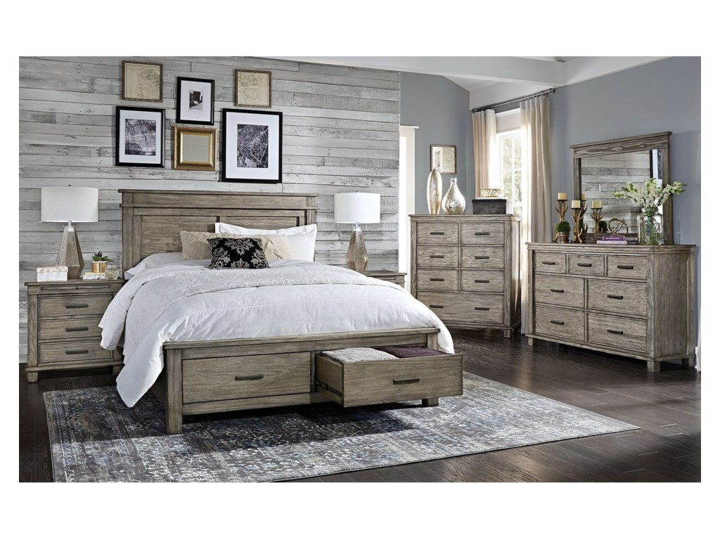 AAmerica Glacier PointCal King Storage Bedroom Group