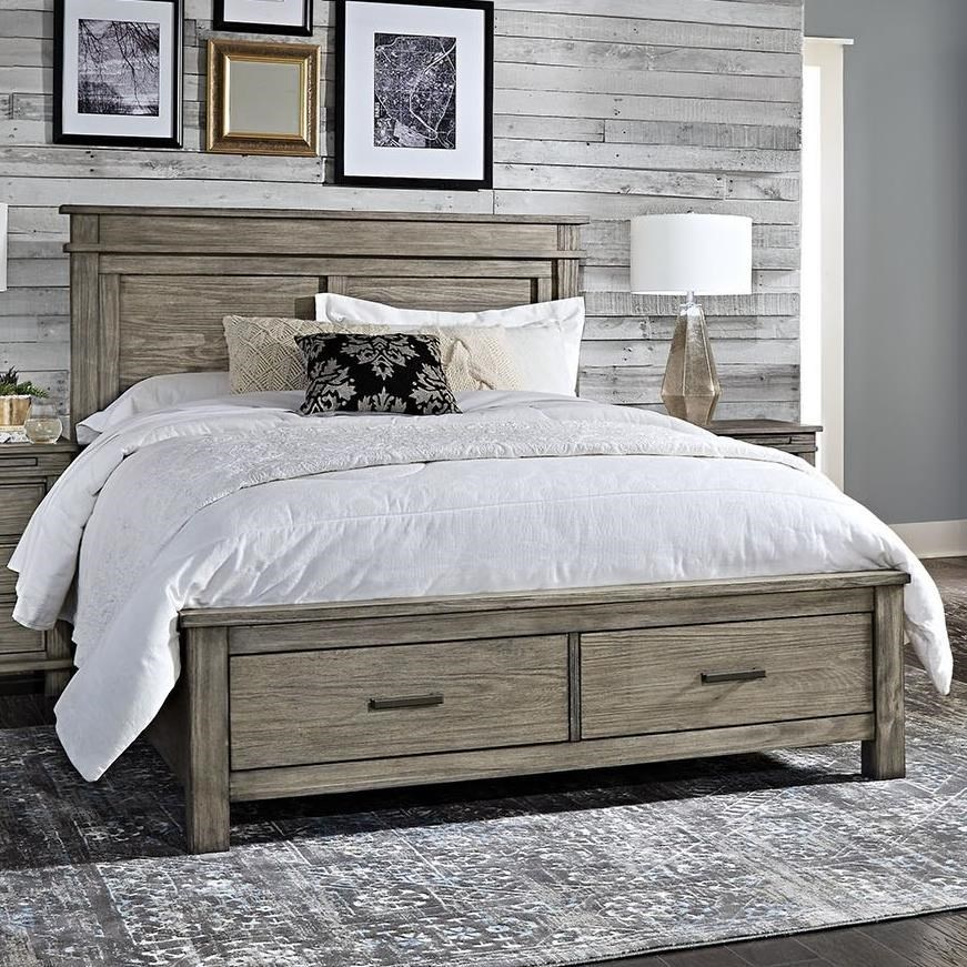 king storage bed frame. AAmerica Glacier Point Transitional Solid Wood King Storage Bed With 2  Drawers King Storage Bed Frame