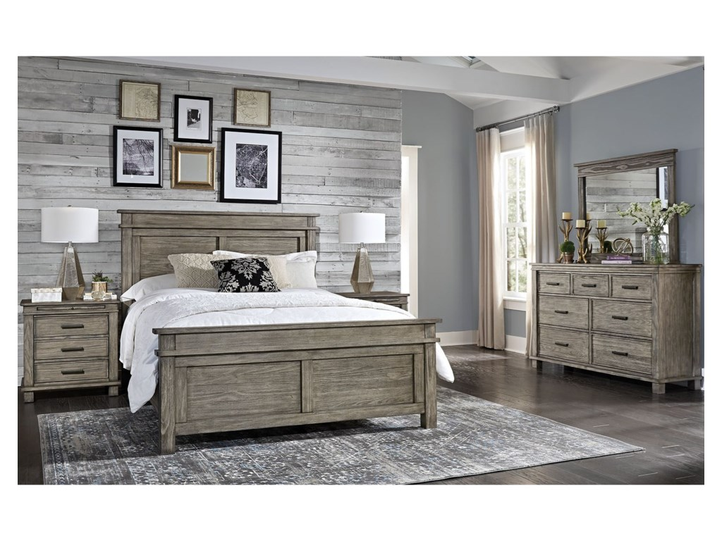 AAmerica Glacier PointCal King Panel Bed