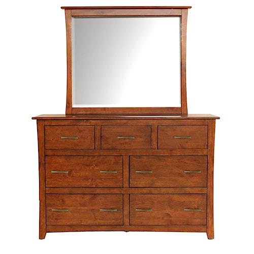 AAmerica Grant Park 7 Drawer Dresser & Mirror Set