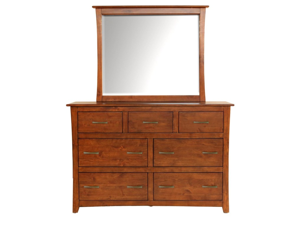 AAmerica Grant ParkDresser & Mirror Set