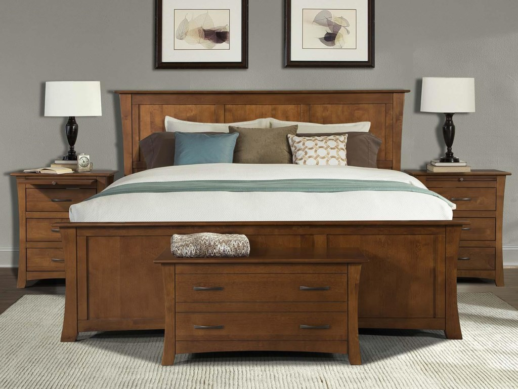 AAmerica Grant ParkCalifornia King Panel Bed