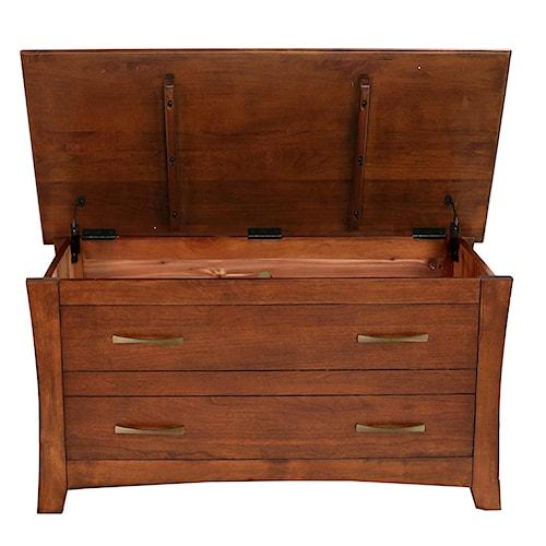 AAmerica Grant Park Cedar Lined Storage Trunk Bench