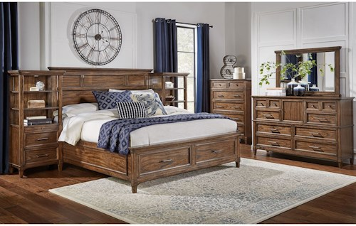 AAmerica Harborside King Bedroom Group