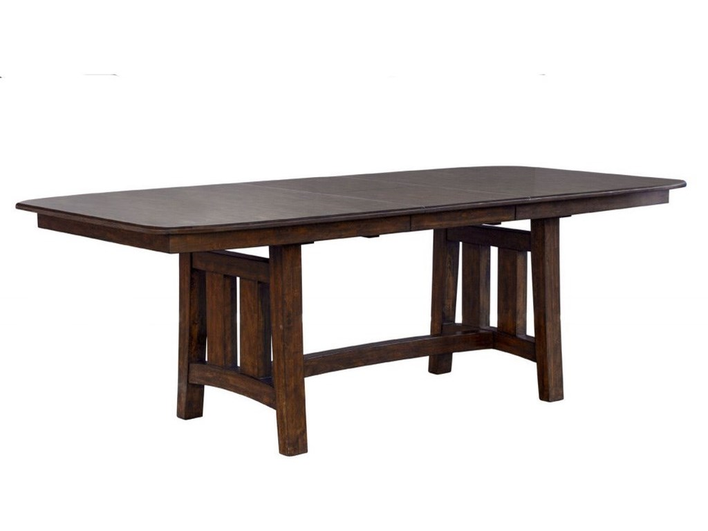 AAmerica HendersonRectangular Butterfly Leaf Trestle Table