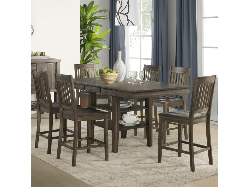 AAmerica HuronTransitional Pub Table and Chair Set