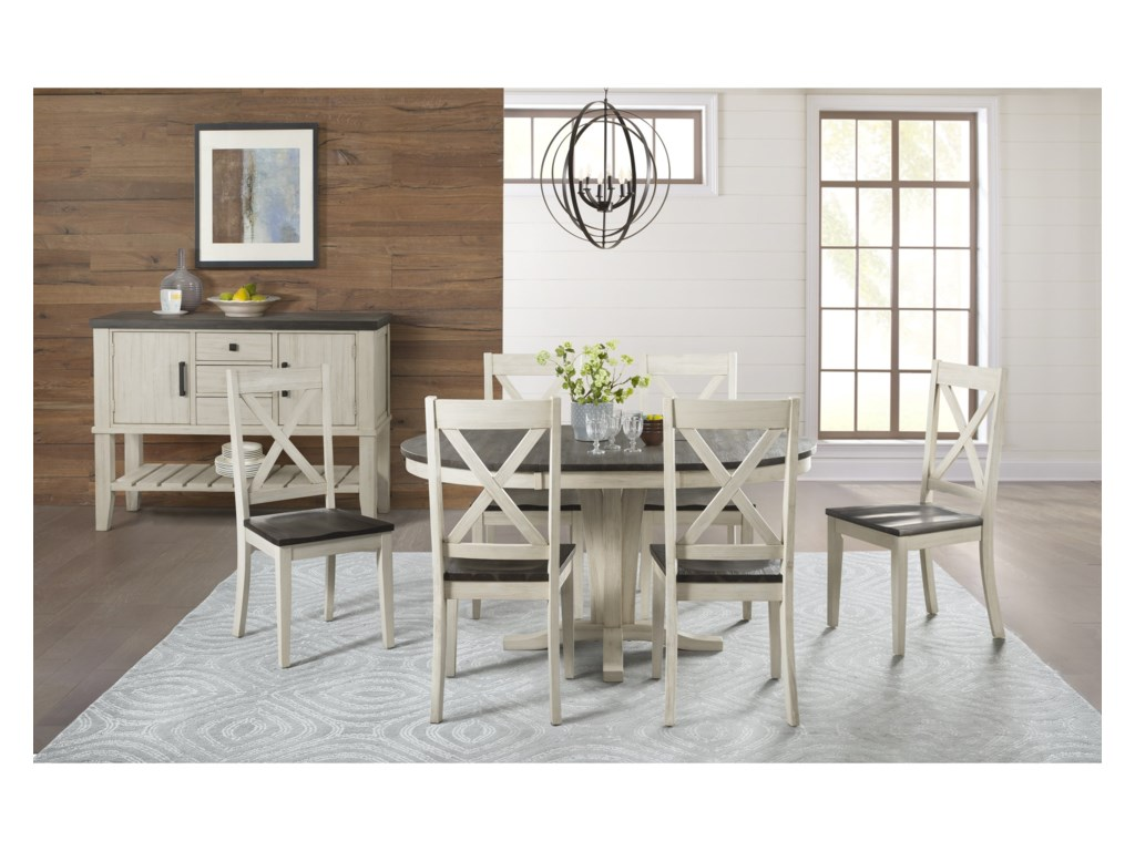 AAmerica HuronRound Pedestal Table