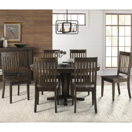 Pedestal Table and Chair Set