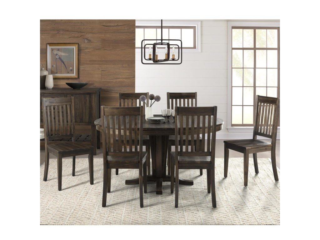 AAmerica HuronPedestal Table and Chair Set