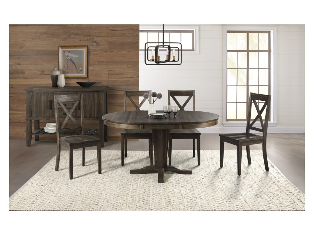 AAmerica HuronRound Pedestal Table