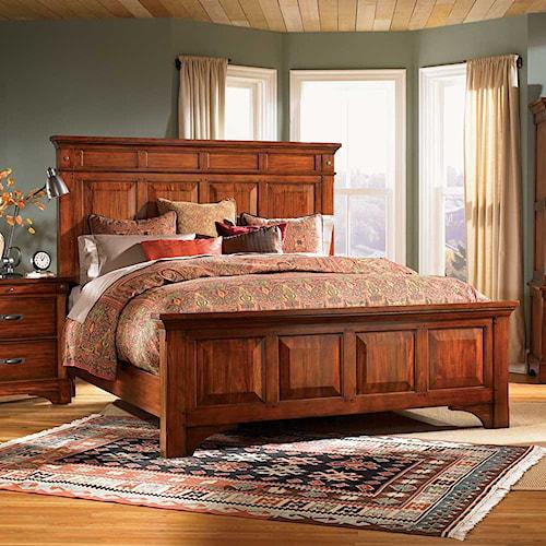 AAmerica Kalispell Queen Wood Mantel Bed