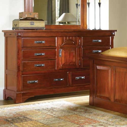 AAmerica Kalispell Eight Drawer Dresser with Two Secret Compartments
