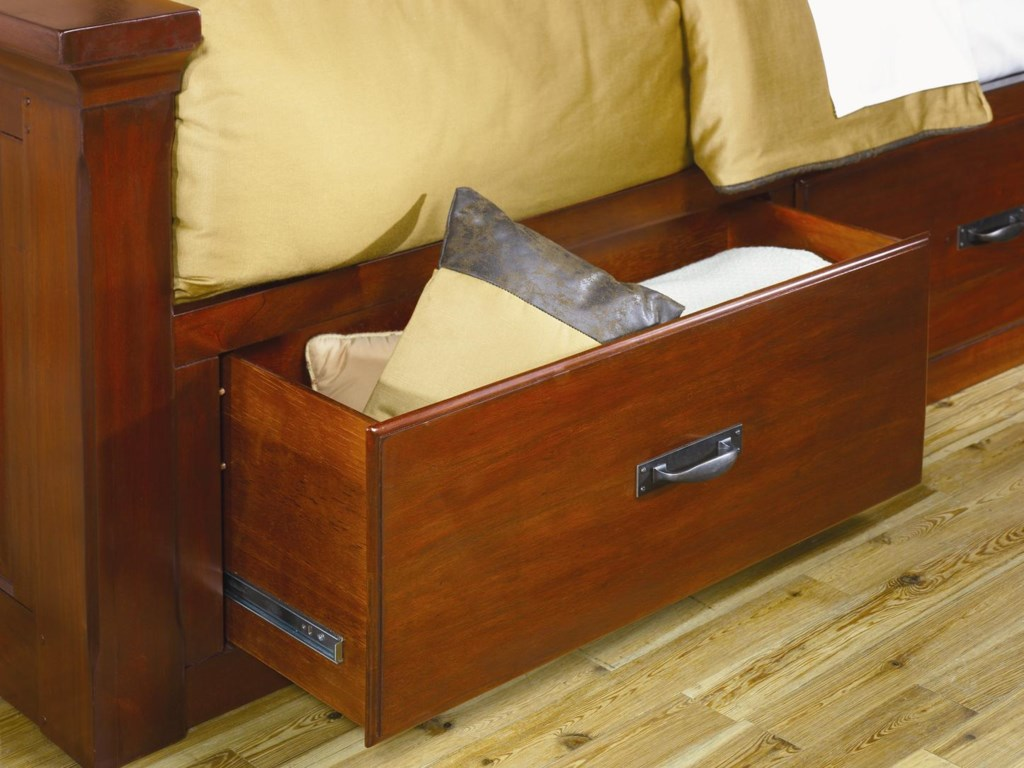 AAmerica KalispellQueen Mantel Bed w/ Storage Boxes
