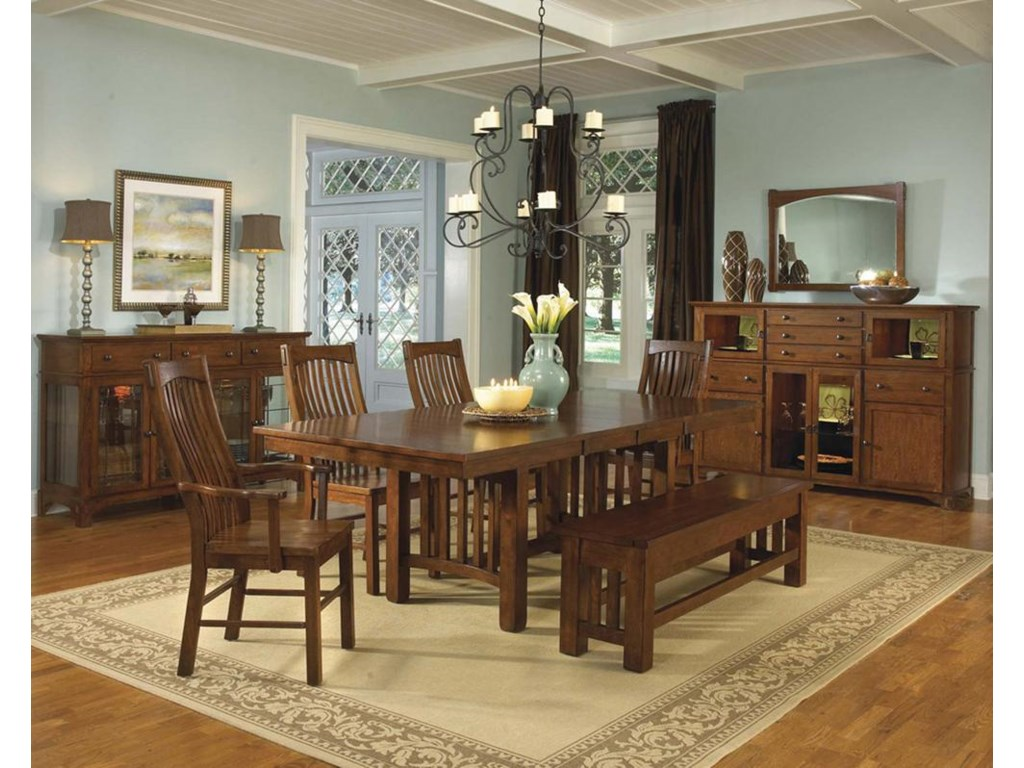 Shown with Buffets, Table, and Bench