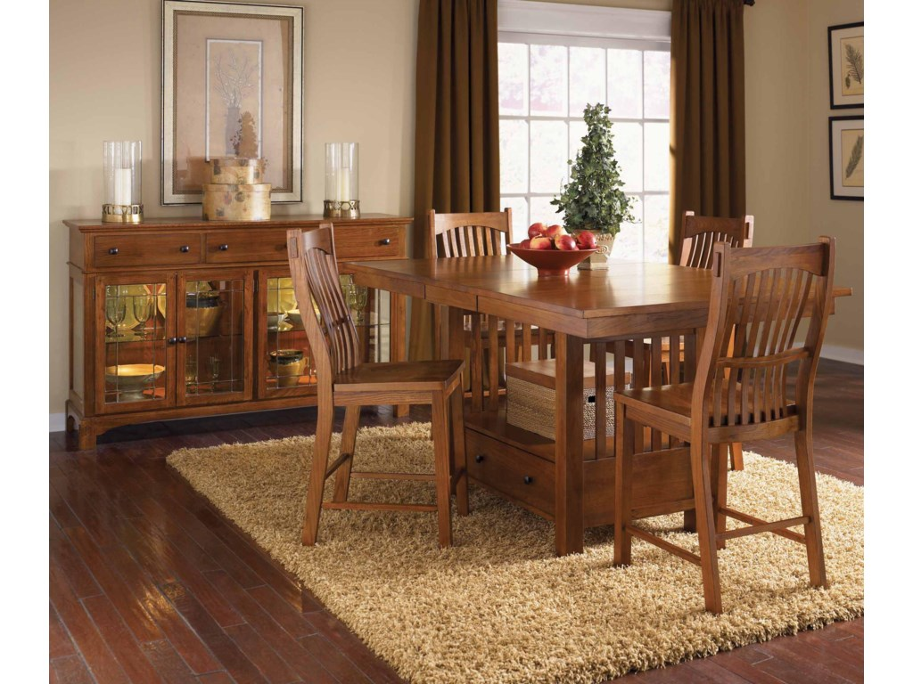 AAmerica Laurelhurst5-Piece Rect. Gathering Height Table Set