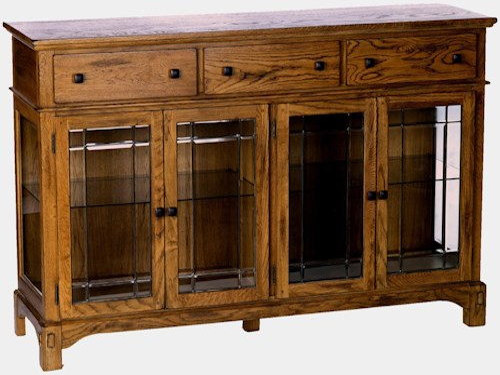 AAmerica Laurelhurst Glass-Front Wide Buffet