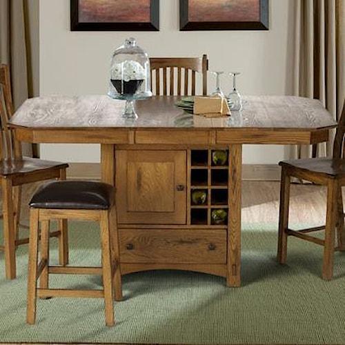 AAmerica Laurelhurst Wine Storage Gather Height Table