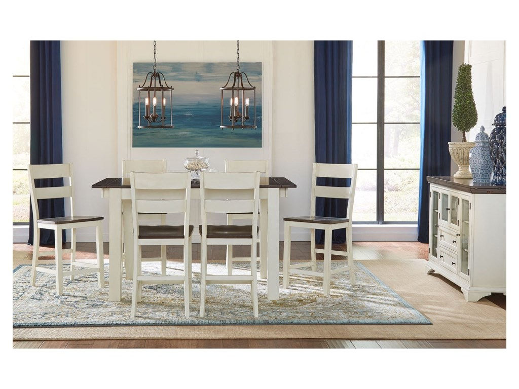 AAmerica MariposaCounter Height Dining Room Group
