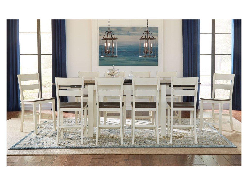 AAmerica Mariposa11 Piece Counter Height Dining Set