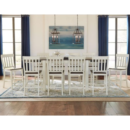 11 Piece Counter Height Dining Set