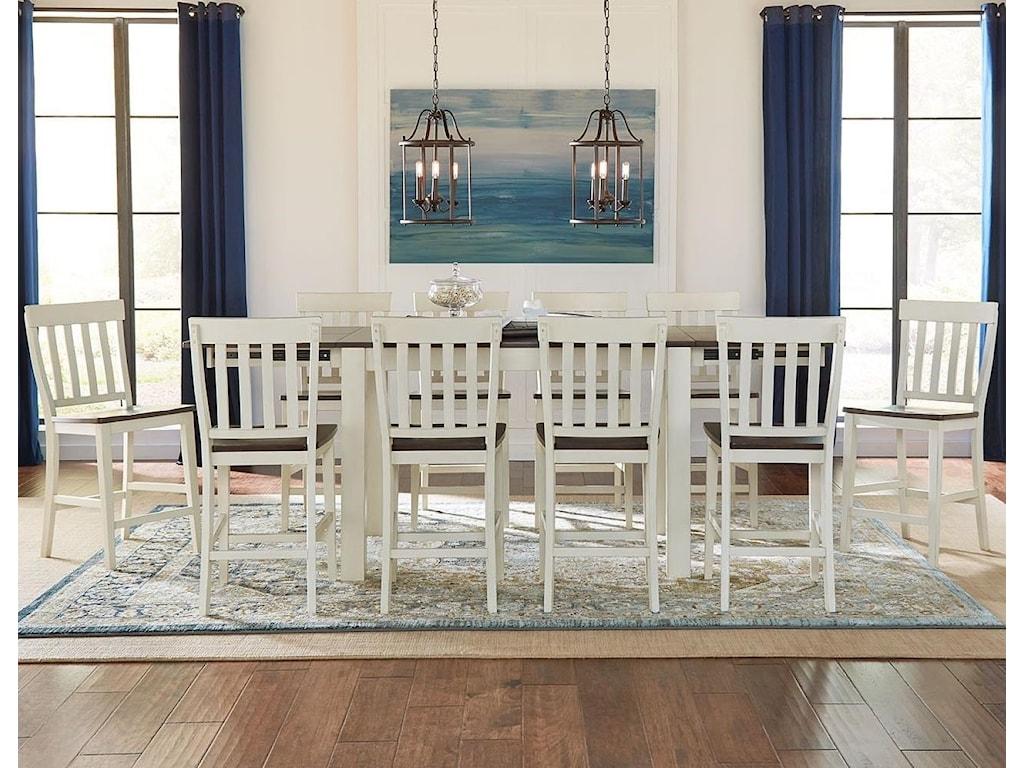 AAmerica Mariposa11 Piece Counter Height Dining Set