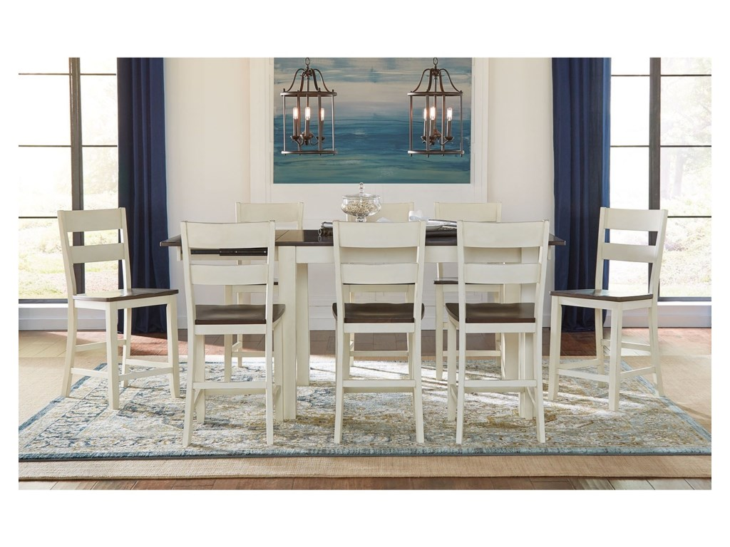 AAmerica Mariposa9 Piece Counter Height Dining Set