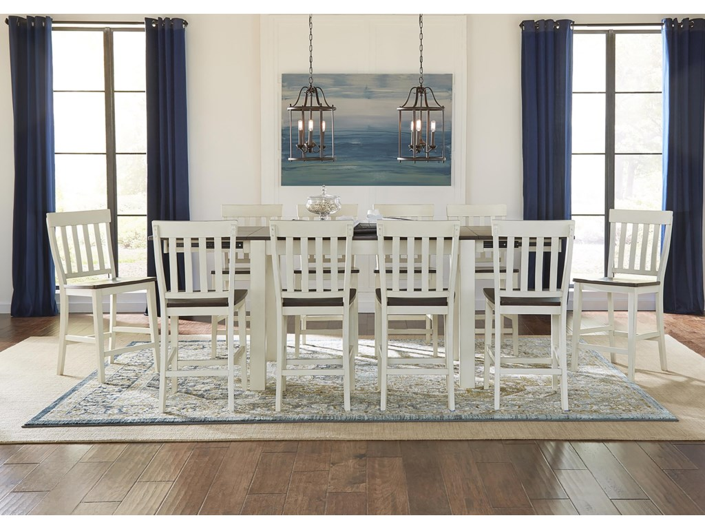 AAmerica Mariposa7 Piece Counter Height Dining Set
