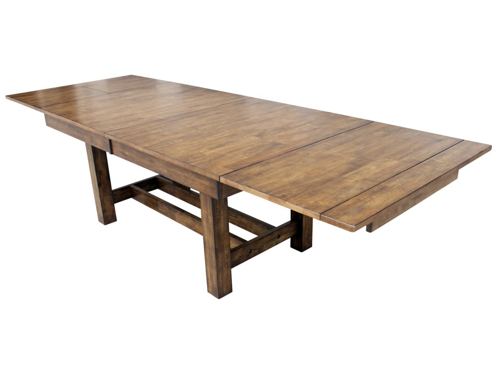 With Leaf Extended to Make Table 132 Inches