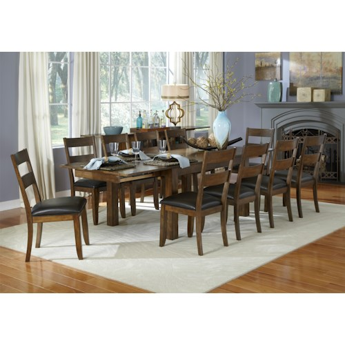 AAmerica Mariposa 11 Piece Table and Ladderback Chairs Set