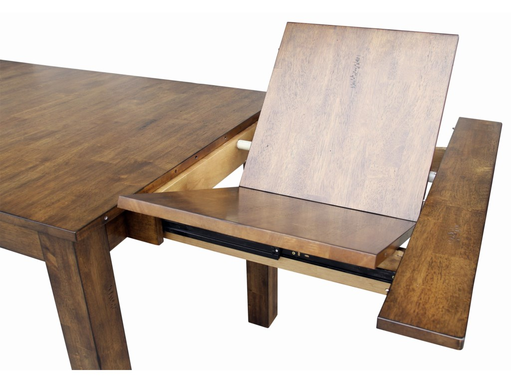 Self Storing Butterfly Leaves to Extend Table to 100 Inches