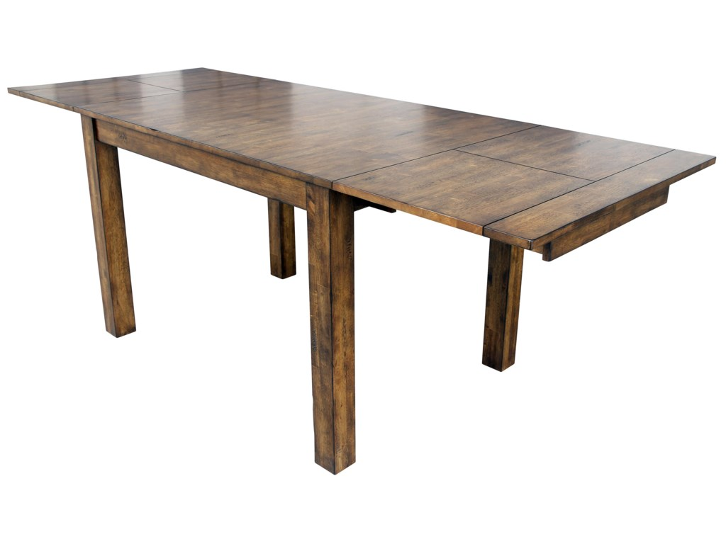 With Leaf to Extend Table to 100 Inches