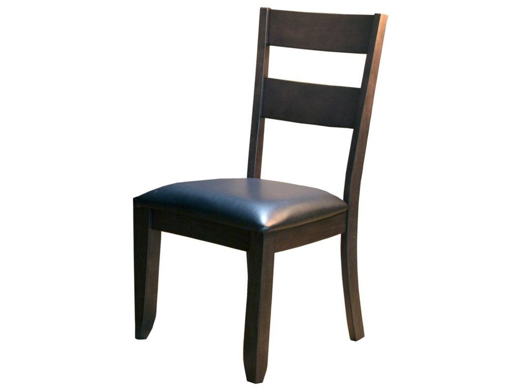 c0d6a0969b44 AAmerica Mariposa Ladder Back Side Chair with Upholstered Seat ...