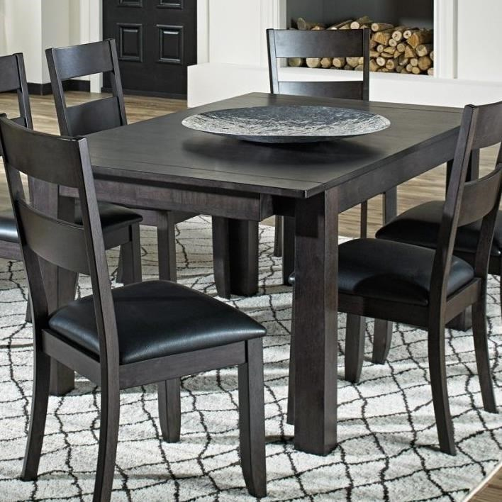 Dining Leg Table with 2 Self Storing Butterfly Leaves
